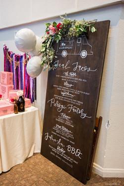 Wedding Day Calligraphy Menu