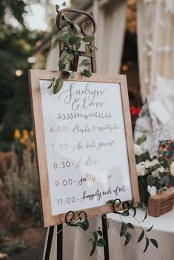 Tapestry House Wedding Signage