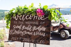 Vail Wedding Signage