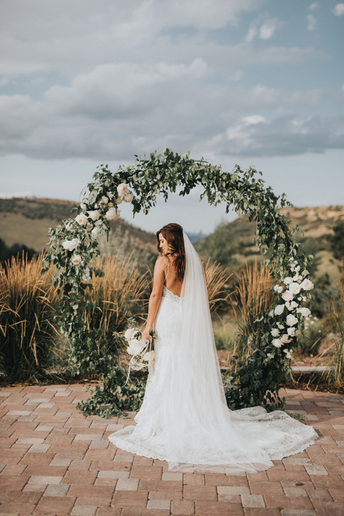 Circle Wedding Arch | Colorado Manor House Wedding Planner