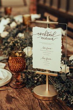 Blanc Wedding Cocktail Menu