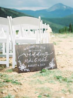 Keystone Ranch Wedding Sign