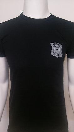 BPD Badge cotton t shirt black