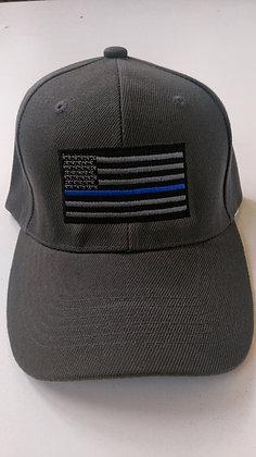 Thin Blue Line Gray Hat