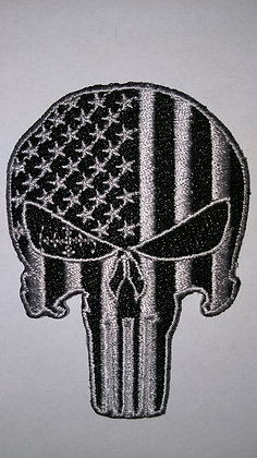 Punisher Subdued Patch USA Skull