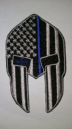 Police Support Patch USA Spartan