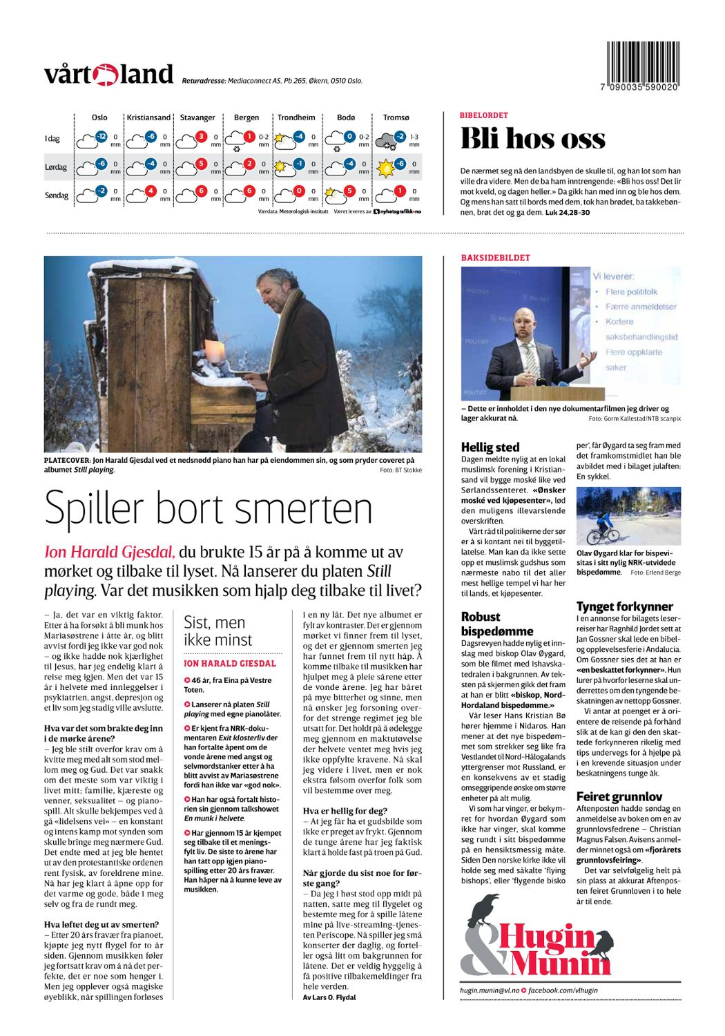 "The National Newspaper ""Vårt Land"""