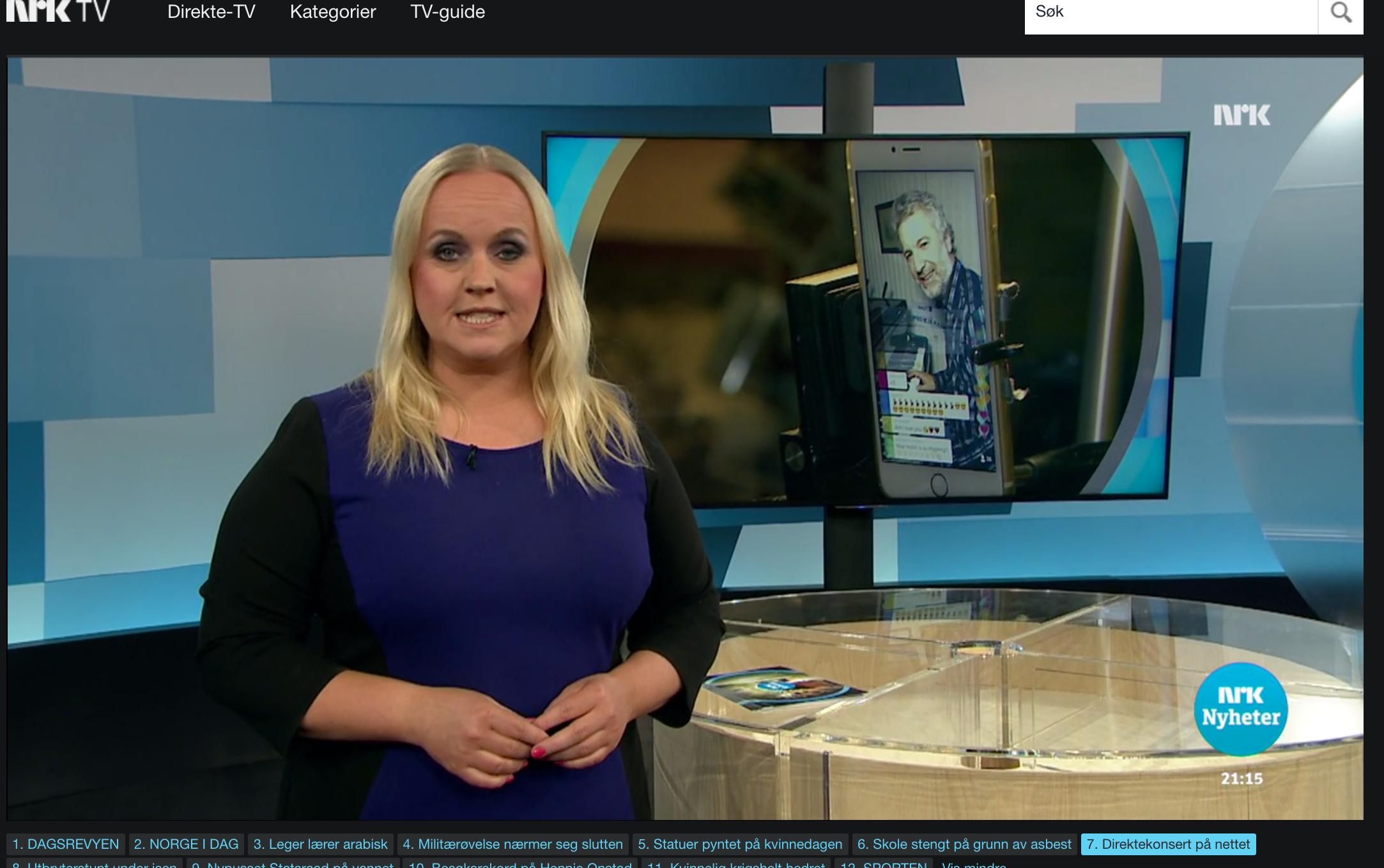 NRK Dagsrevyen 21/Norwegian State TV