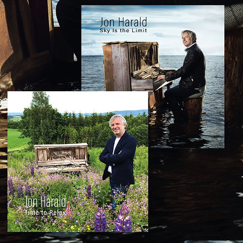"2 CDs SIGNED - ""Sky Is the Limit"" and ""Piano Meditation-Time to Relax""  $39"