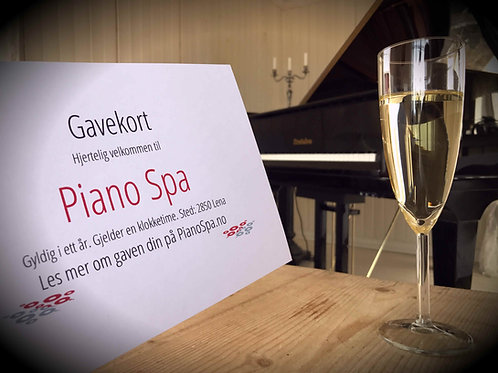 Gavekort på Piano Spa - for 1 person (Only for Norway)
