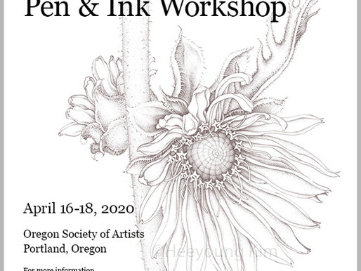 Heeyoung Kim 3-Day Pen-and-Ink Workshop in Oregon