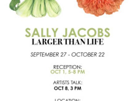 Sally Jacobs' Artist Talk, Saturday, October 8