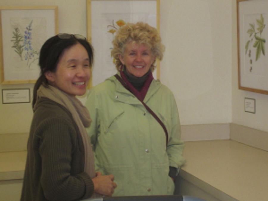 (left to right) Mitsuko Schultz and Patty Van Osterhoudt.