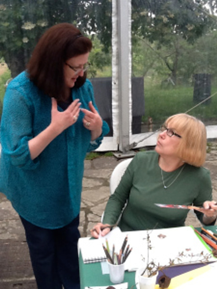 BAGSC member Jan Clouse at Margaret Best's Tuscany Workshop, from Quench Trip Design.