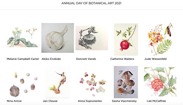 "Artwork banner from the BAGSC ""Day of Botanical Art"" website"
