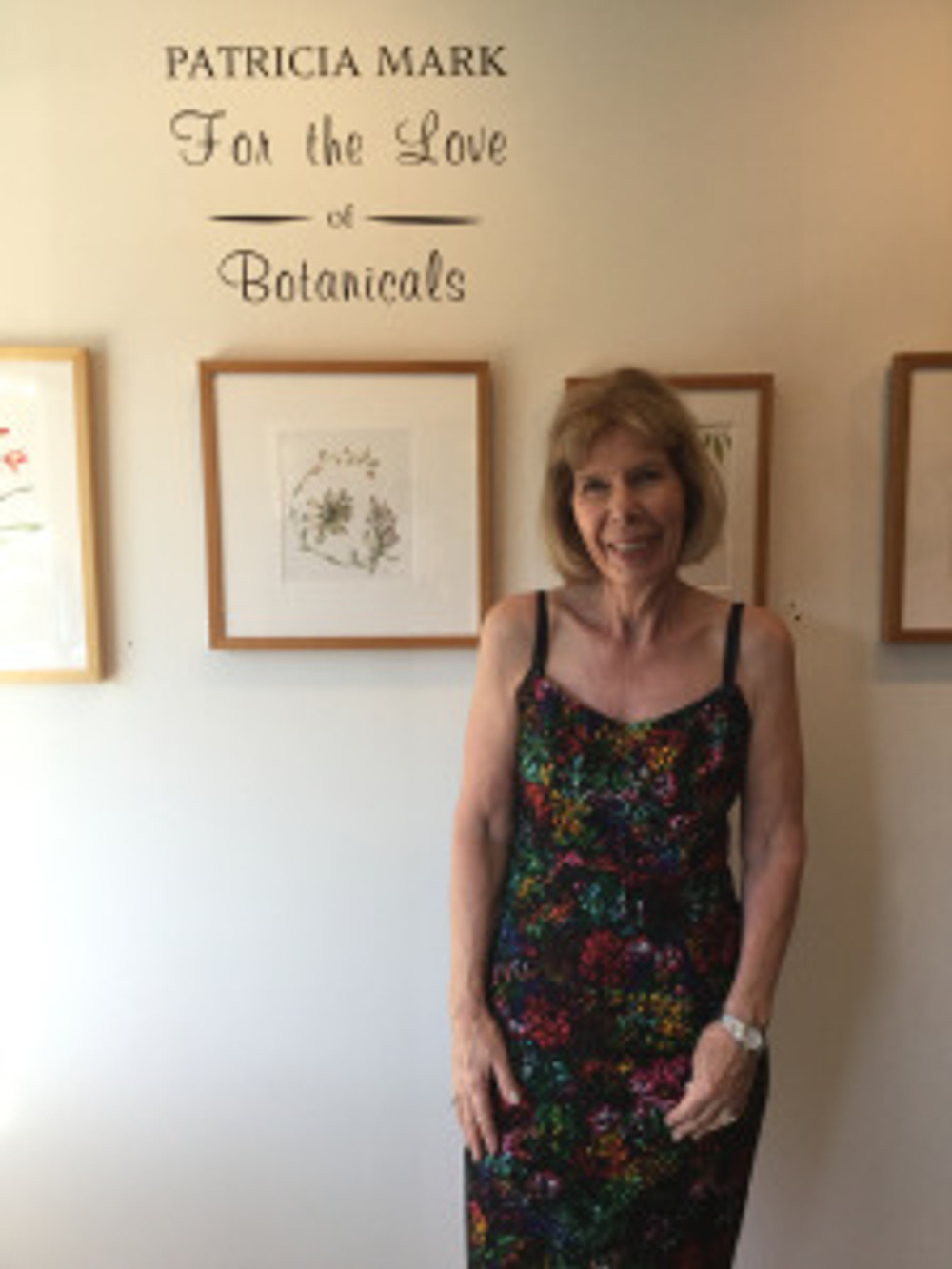 """Patricia Mark at the opening reception """"For the Love of Botanicals."""" Photo credit: Tania Marien, © 2016."""