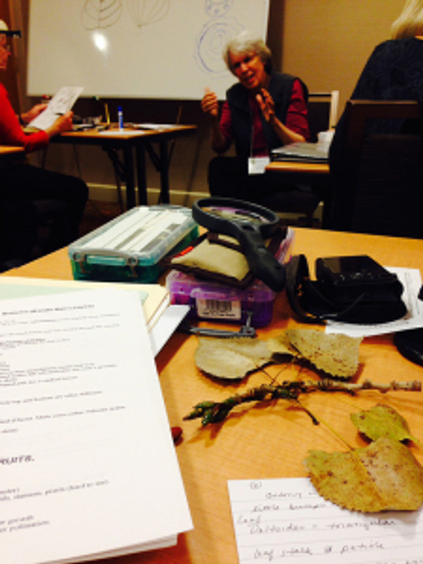Carol Govan delivered a fast-paced, exciting lecture about botany. Photo by Gayle Uyehara.
