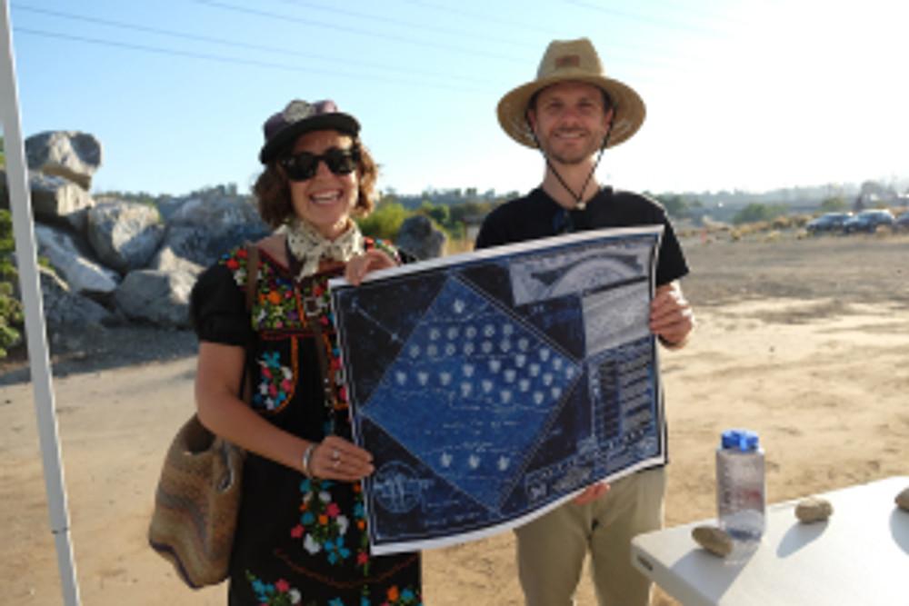 Mirror Garden Host Blueprint Holders from Long Beach (photo Amanda Wiles)