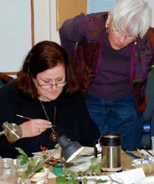 Margaret teaching at the Santa Barbara Botanic Gardens in January.