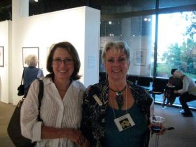 Kathy Dunham and Clara Josephs at the Opening Reception
