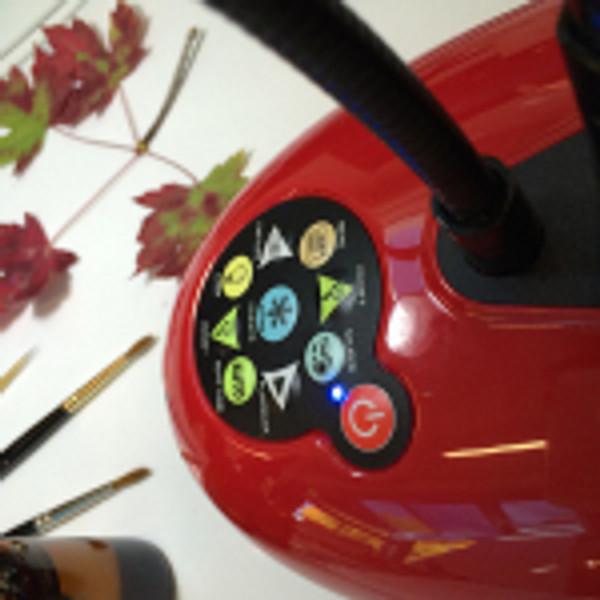 Ladibug lamp detail. Photo by Beth Stone.