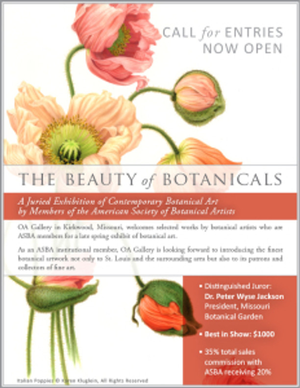 OA Gallery, Call for Entries, The Beauty of Botanicals 2016. © OA Gallery, 2016, all rights reserved.