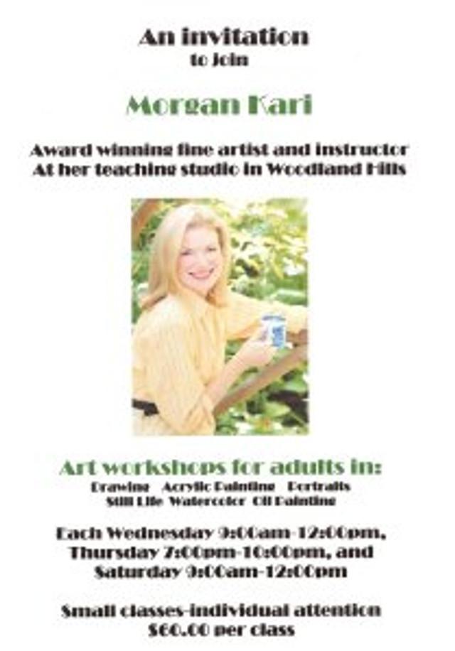 Morgan Kari's studio flyer