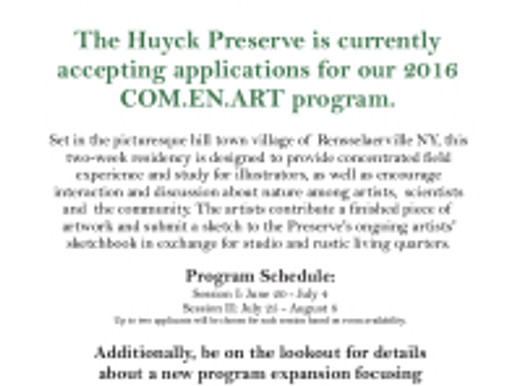 Artist-in-Residency Program at The Huyck Preserve and Biological Research Station: Application Deadl