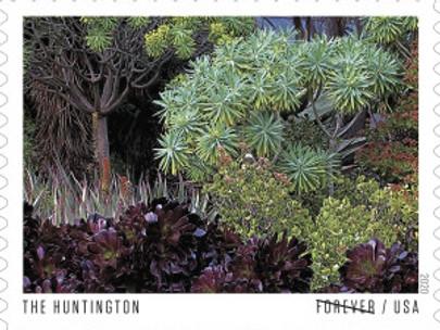 New US Stamps Honor The Huntington among Ten US Gardens