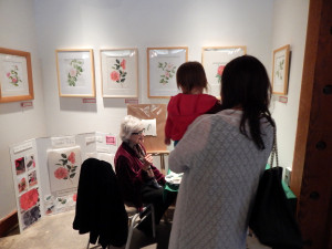 BAGSC Botanical Camellia Art Exhibit at Descanso's Boddy House