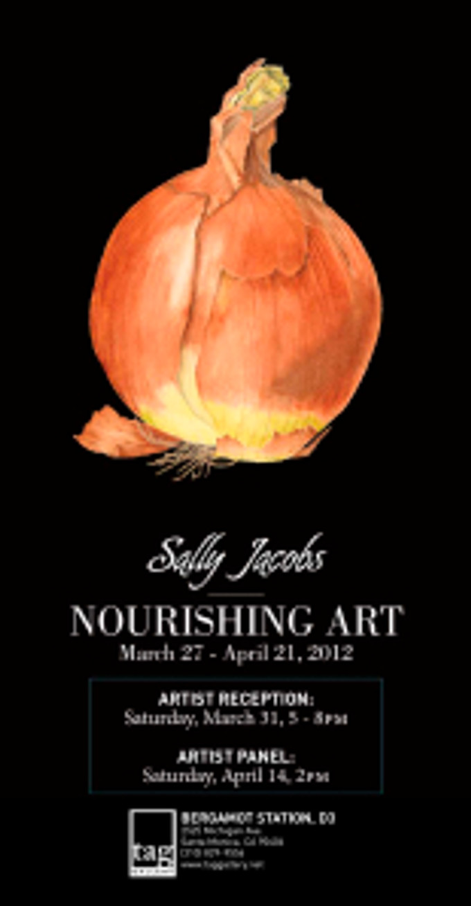 """Sally Jacobs, Invitation to """"Nourishing Art"""" at the TAG Gallery"""