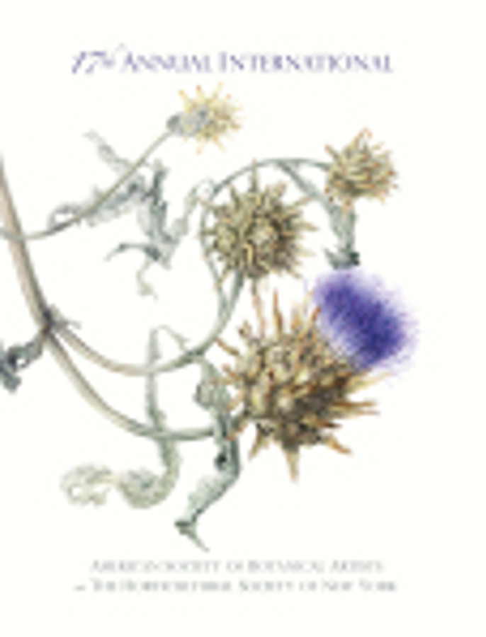 Catalog cover image: Annie Patterson, Cynara cardunculus, Cardoon, watercolor on paper, © 2014, all rights reserved.