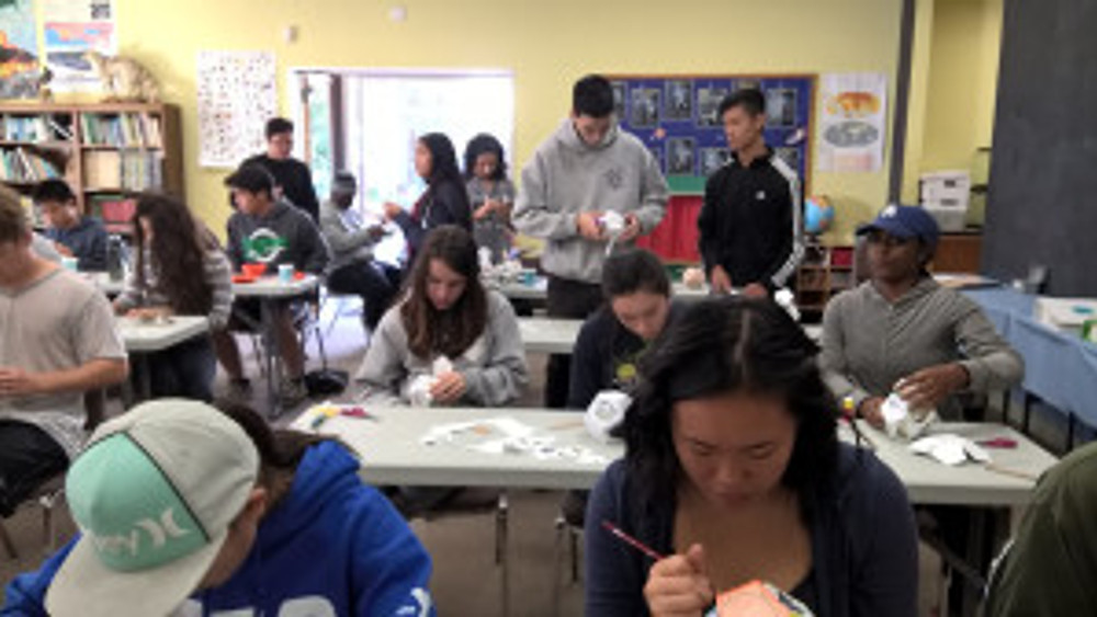 Participants busy making holiday ornaments. Photo by Estelle DeRidder, © 2015, all rights reserved.