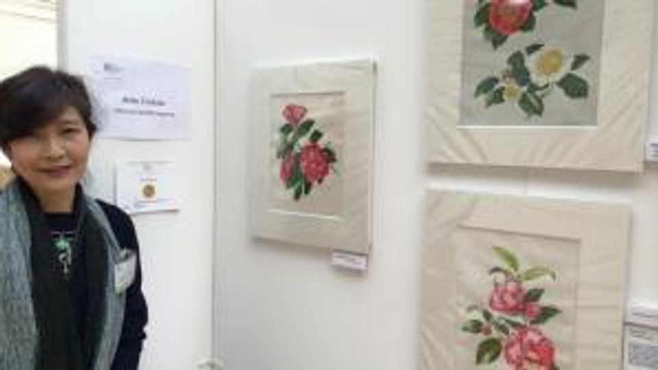 Akiko Enokido at the RHS Exhibition.