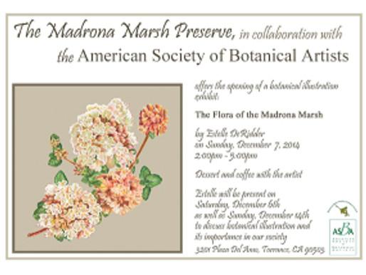 Update on Times for Estelle DeRidder's Opening at Madrona Marsh