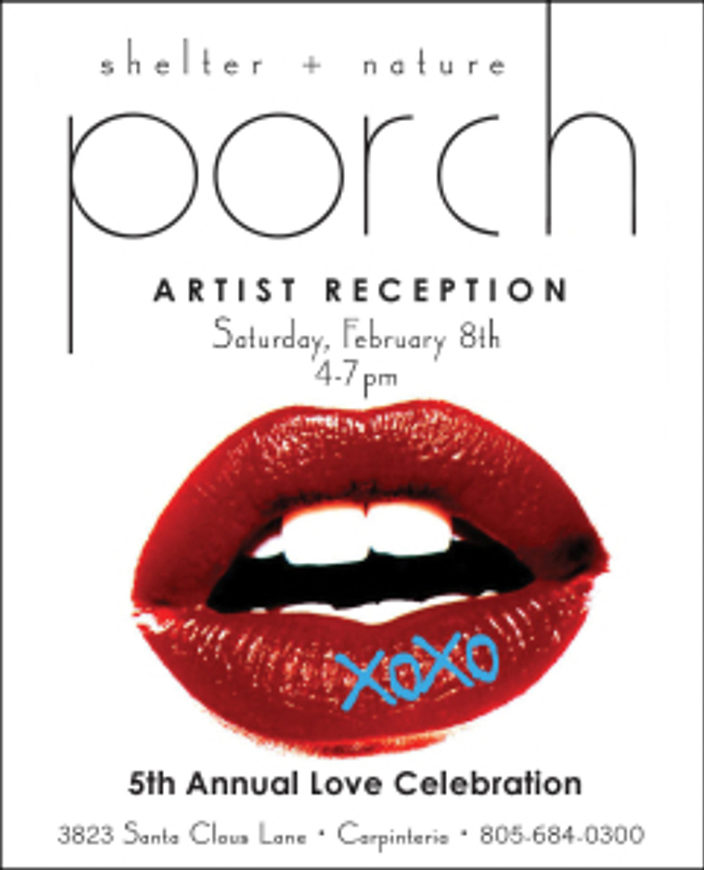 Artist Reception invitation from Porch.