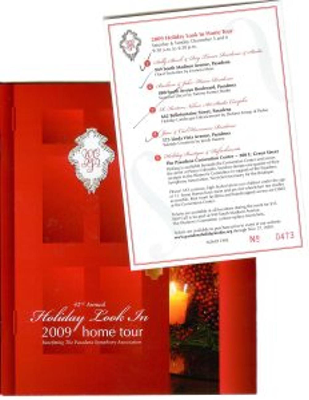 Home Tour Program and Ticket