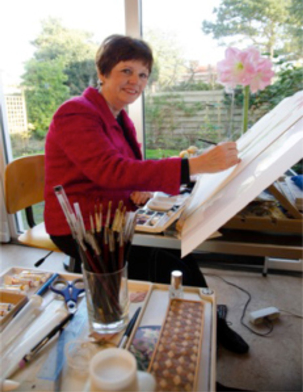 Anita Walsmit Sachs in her studio.
