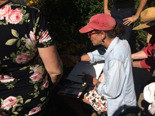 "BAGSC Workshop Review, ""Fresh Art: Pencil and Paint in the Garden"" with Marjorie Leggitt"
