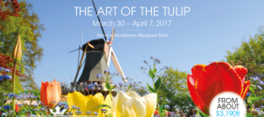 """""""The Art of the Tulip"""" Select River Cruises with Margaret Best, Artist-in-Residence."""