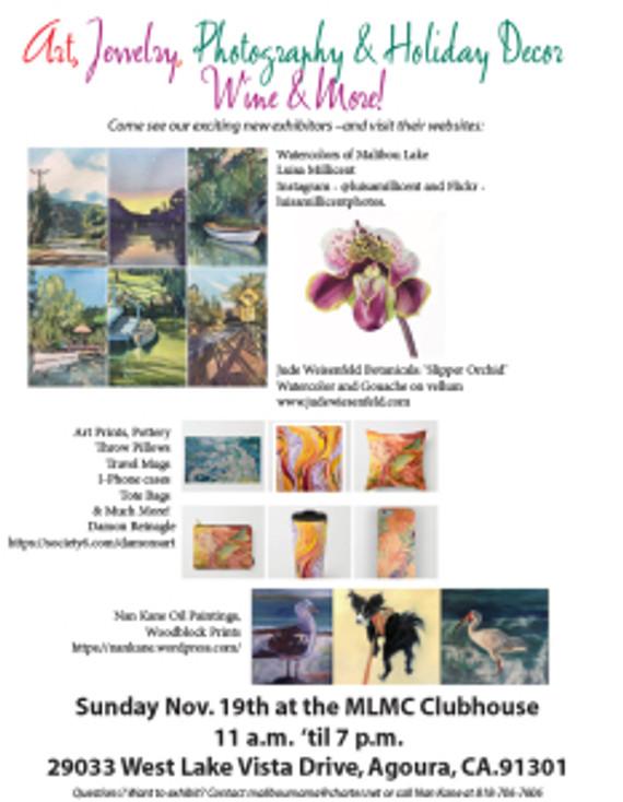 Flyer for Malibu Lake Exhibition.