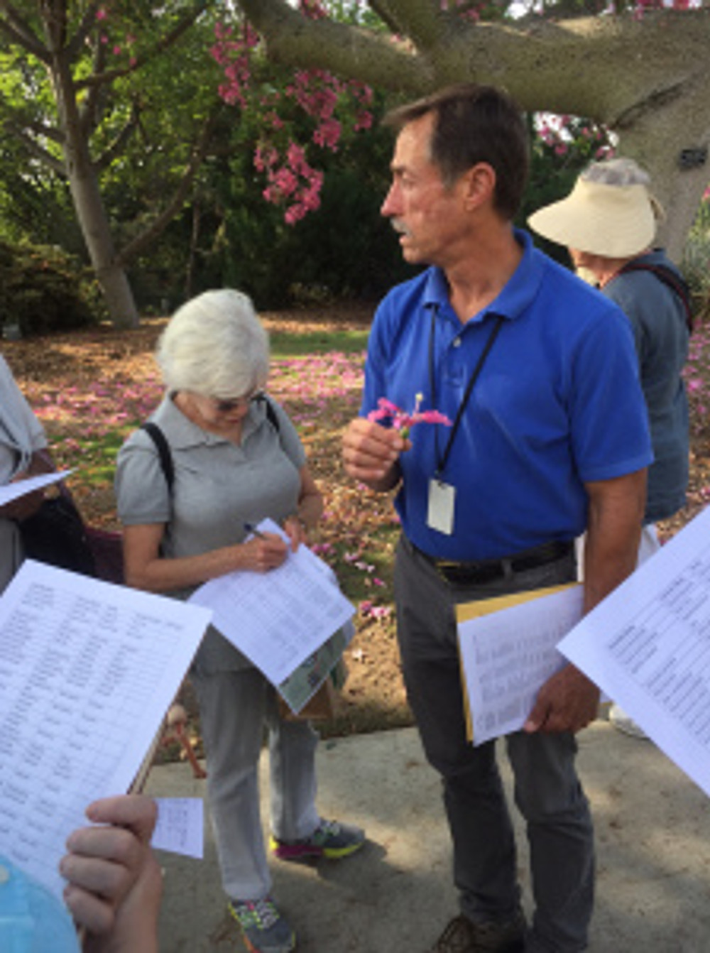 Jim Henrich, Curator of Living Collections, Los Angeles Arboretum, lectures about their tree collection. Photo by Clara Josephs, © 2015, all rights reserved.