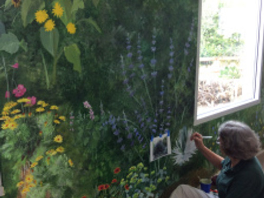 Update on Estelle DeRidder's Madrona Marsh Mural
