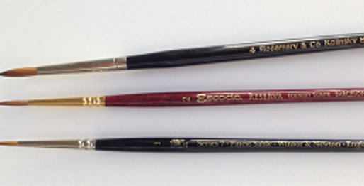 A Quick Update on Kolinsky Sable Brushes