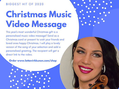 Personalised Christmas Music Video Message
