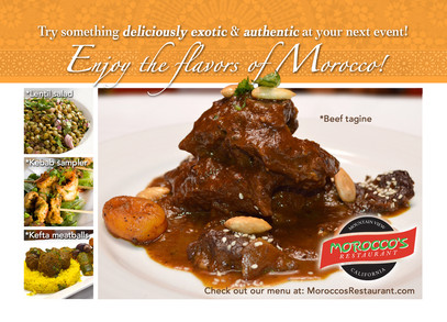 Morocco's Restaurant Postcard