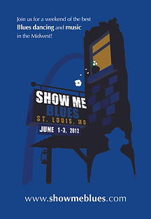 Show Me Blues 2012 postcard design
