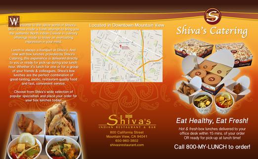 Shiva's Catering (tri-fold brochure)