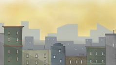 Cityscape layout for upcoming animated short
