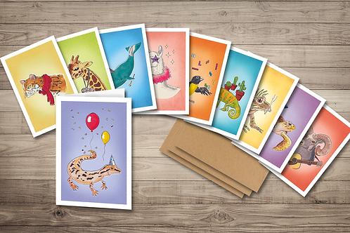 Sermonibus Animalis Greeting Card Pack (10)